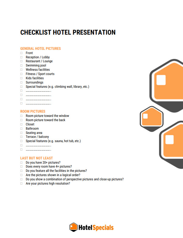 Checklist hotel presentation